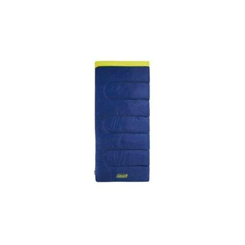 Coleman Heaton Peak 220 Sleeping Bag Blue and Yellow Single