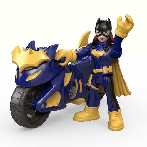 Fisher-Price DHT69 Imaginext DC Super Friends, Batgirl & Batcycle