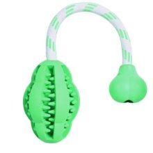 Trixie Natural Rubber Denta Fun Mintfresh Jumper On A Rope For Dog - Toy -  rope rubber dog natural jumper denta fun trixie mintfresh toy