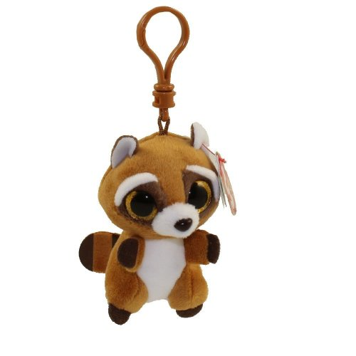Ty Beanie Babies Boos Rusty the Raccoon Key Clip