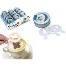 12 Pack Coffee Stencil Gift Tin -  coffee eddingtons set 16 stencil stencils x cappuccino