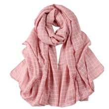 Grid Scarves Winter Warm Female Scarves Infinity scarf/shawl,Bare Pink