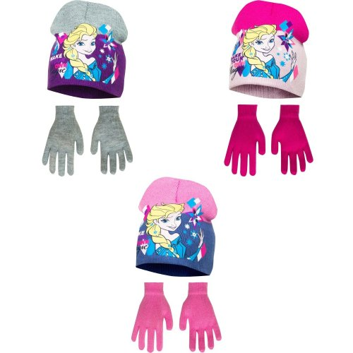 Disney Frozen Childrens Girls Make Your Own Magic Winter Hat And Gloves Set
