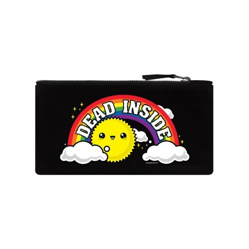 Grindstore Dead Inside Canvas Pencil Case