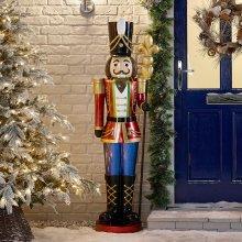 Winter Workshop - 5.2ft Indoor & Outdoor Poly Resin Nutcracker Christmas Figure