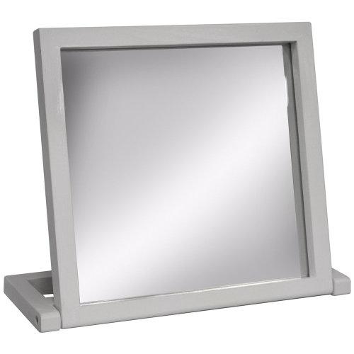 Wood Free Standing Folding Bathroom / Dressing Table / Travel Mirror - White