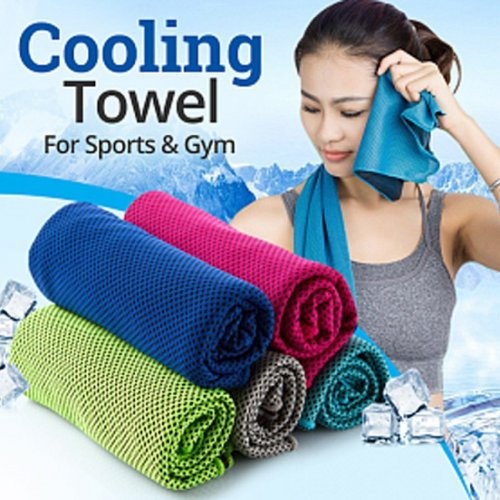 Cooling Towel, Ice Towel, Microfiber Towel 100 x 30 cm,Quick Dry Fitness Towel for Instant Relief,Use as Cooling Neck Headband Bandana Scarf