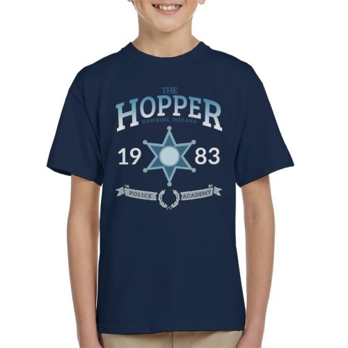 Stranger Things Hopper Police Academy Kid's T-Shirt