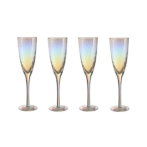 Set Of 4 Aurora Champagne Glasses, 260 ml