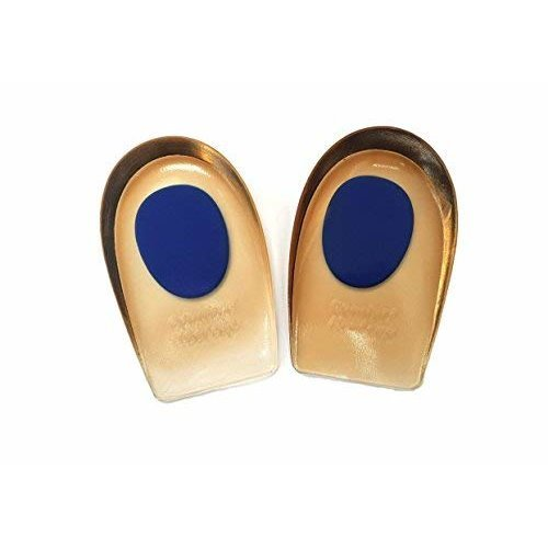 Silicone Gel Comfort Heel Cups Pads/Insoles/Inserts (Large (Blue Dot) UK 7-11/EU 41-45)
