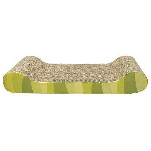 Catit Patterned Scratching Board With Catnip Lounge Design 50cm
