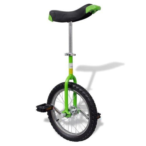 Green Adjustable Unicycle 16 Inch