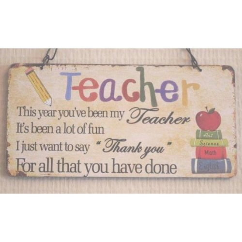 Wall Plaque Thank You To my Teacher Gift SG1853