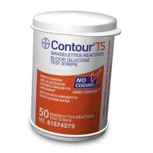 Ascencia Contour TS Diabetic Blood Glucose Test Strips 50