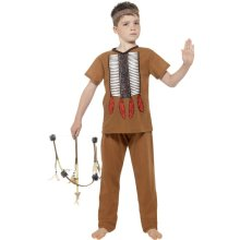 Smiffy's Children's Native Indian Warrior Costume (small) -  costume fancy dress native indian boys american warrior outfit kids wild childs west