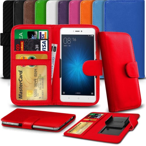 """iTronixs - Cubot X16 S (5"""") High Quality Clamp Style PU Leather Wallet Case Cover"""