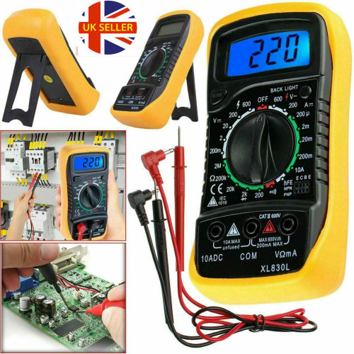 LCD Multimeter Voltmeter Ammeter OHM Current Circuit Tester Buzzer
