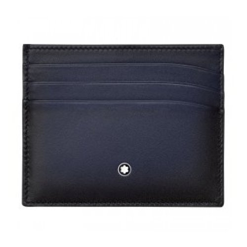 MONTBLANC CREDIT CARD HOLDER 6 COMPARTMENTS-BLUE GRADIENT 113174