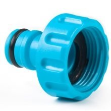 "1"" Hozelock Compatible Threaded Tap Connector with Hose End Connector"