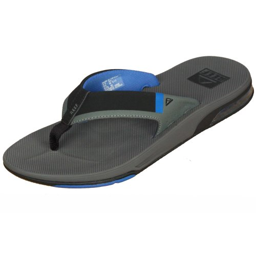 808e6b6b071b Reef Water Friendly Mens Sandals with Bottle Opener ~ Fanning Low grey blue  on OnBuy