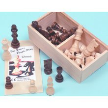 Kent & Cleal chess men, wood Staunton pattern, 75mm. King - 00201