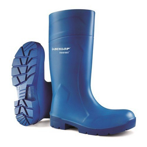 Dunlop CA6163103 Purofort Multigrip Blue Wellington Boots Steel Toe Cap Size 3