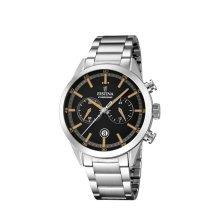 Festina F16826/4 Mens Black Dial Orange Markers Chronograph Watch