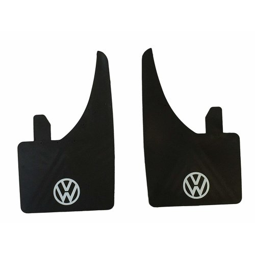 White Universal VW Volkswagen Car Mudflaps Fit Golf Passat Polo Etc