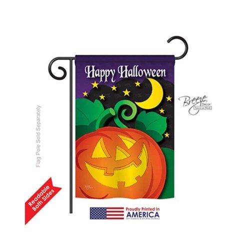 Breeze Decor 62052 Halloween Halloween Night 2-Sided Impression Garden Flag - 13 x 18.5 in.