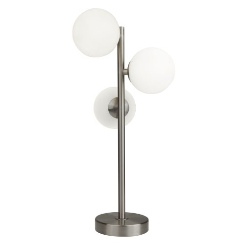 Searchlight Trio 3 Light Table Lamp With Opal Ball SS