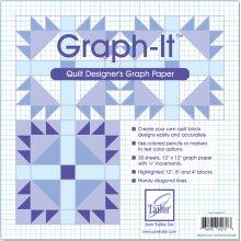 """June Tailor Graph-It Graph Paper-12""""X12"""" 20/Pkg"""
