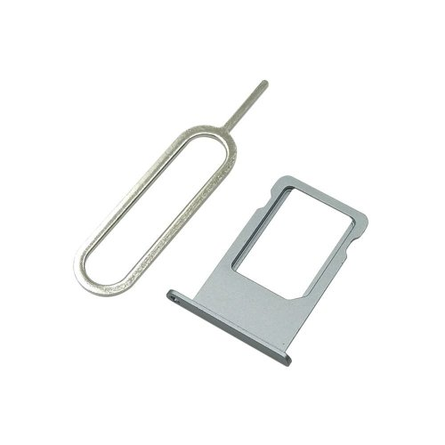 Cemobile SIM Card Tray Slot Holder Replacement for iPhone 6 Plus 5 5 Inch +  SIM Card Tray Open Eject Pin (Grey)
