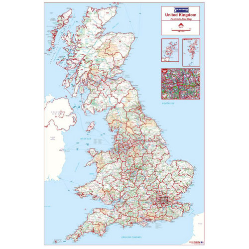 Postcode Area Map 1 - Full UK