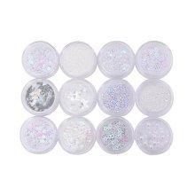 12 Boxes Makeup Glitter Sequins Shining Nail Art Sequins Face Glitter
