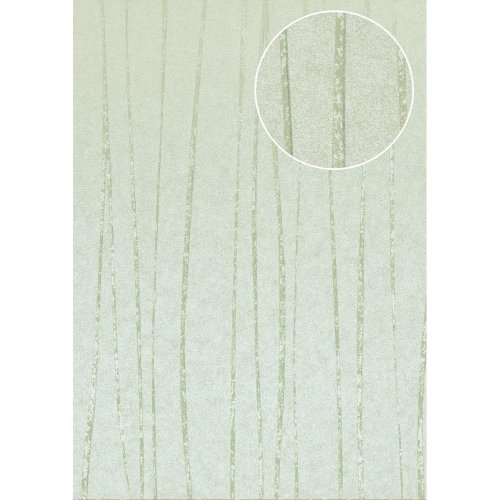 Atlas COL-569-8 Stripes wallpaper shimmering pastel-turquoise 5.33 sqm