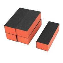 uxcell Lady 3Way Manicure Acrylic Nail Art Buffing Sanding Block Files 5 PCS
