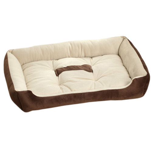Fashion Pet Supplies Pet Bed for Small Cat Dog Rectangle Pet House Kennel Brown