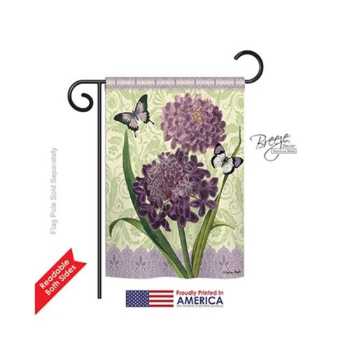 Breeze Decor 54079 Floral Iberis 2-Sided Impression Garden Flag - 13 x 18.5 in.