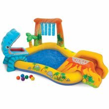 Intex 57444 Dinosaur Play Center paddling inflatable pool with sprinkler
