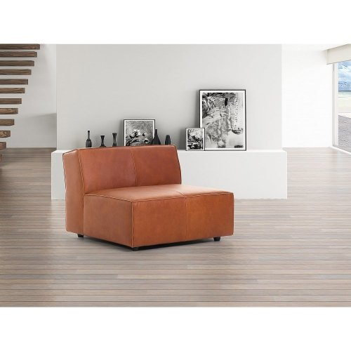 Sofa - Middle Section - Genuine Leather - Cognac brown - ADAM