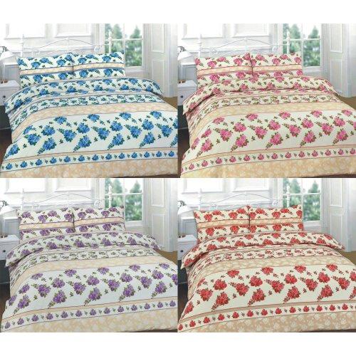 Roses Printed Floral Duvet Quilt Cover Bedding Set