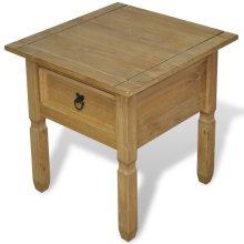vidaXL Side Table Mexican Pine Corona Range 53.5x53.5x55 cm
