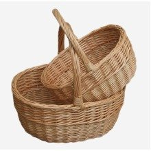 Shopping Basket Buff Oval Shopper Set 2