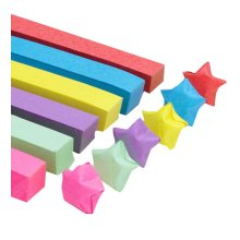1314 Sheets Solid Color Origami Folding Star Paper - 6 Colors