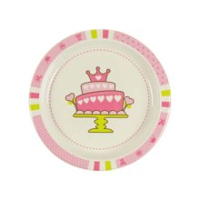 3 Pieces Of Fashion Cartoon Pink Cake Pattern Drop Resistance Plate