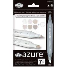 Azure Marker Set 7/Pkg-Warm Gray Colors