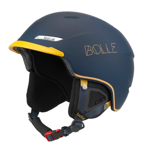 Bolle Beat Snow Helmet - Soft Navy / Mustard-61-63cm