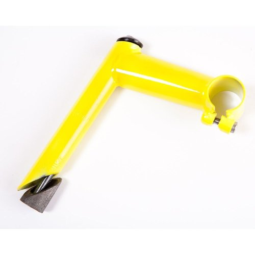 "YELLOW 1"" Bike HANDLEBAR Quill STEM with LONG REACH(100mm) & 25.4m Clamp"