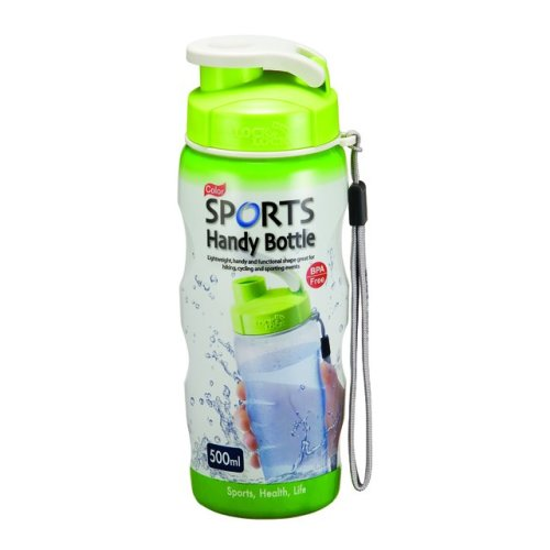 500ml Green Handy Sports Bottle With Carry Strap - Lock Drink Water -  lock sports bottle strap carry 500ml green handy drink water