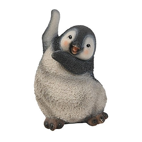 Real Life Playful Penguin B Resin Ornament by Vivid Arts